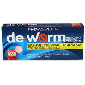 De Worm 4 Orange Flavoured Chewable Tablets [PM]