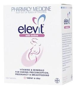 Elevit With Iodine Tablets 100 [PM]