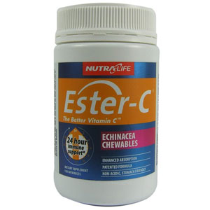 Nutra Life Ester-C with Echinacea Chewables 120 Tablets