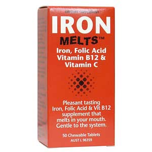 Iron Melts 100mg Tablets 50