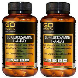 GO Glucosamine 1-A-Day 60 Capsules x 2 Bottles
