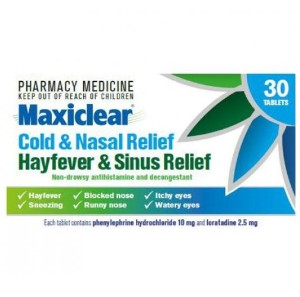 Maxiclear Cold & Nasal Hayfever & Sinus Relief 30 Tabs [PM]